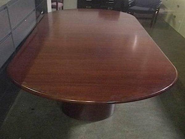 Used 10ft Dark Cherry Wood Veneer Conference Table
