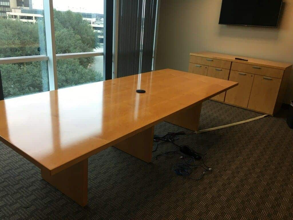 Credenza Conference Room : 10ft maple conference table matching credenza used