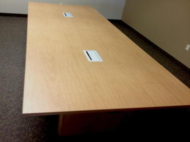 Surprising 12 Ft Conference Table With 2 Power And Data Ports Home Interior And Landscaping Ponolsignezvosmurscom