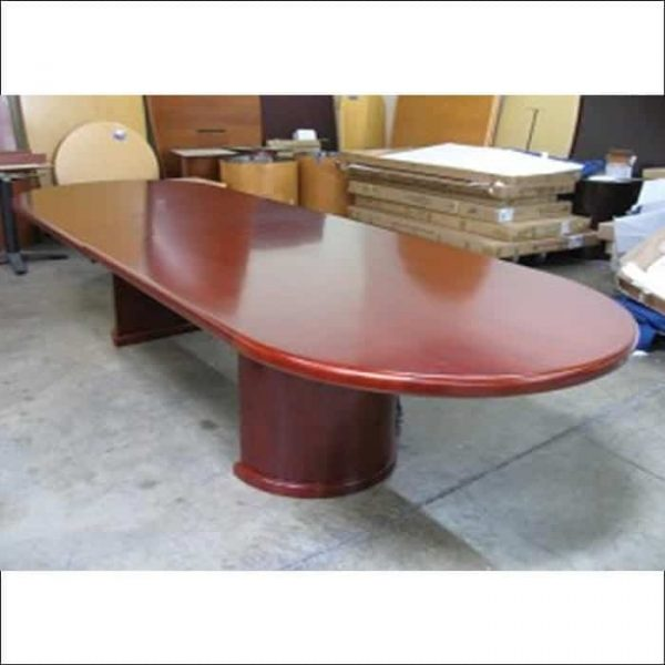 Used 12 ft Conference Table Cherry Wood Veneer