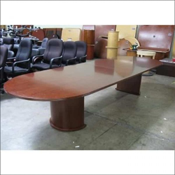 Used 12 ft Conference Table Racetrack