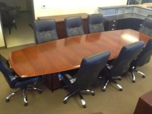 Used 12ft Boat Shape Conference Table