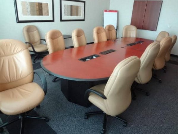 Used 14 ft Cherry Conference Room Table