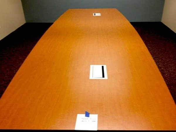 used 14 ft Conference Table w/2 Power and Data Ports