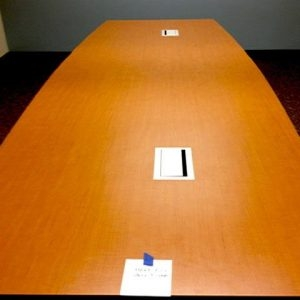 Used 14 ft conference table w/ 2 power & data ports