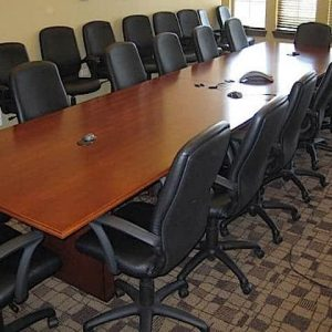 Used 16 ft Conference Table Wood Veneer
