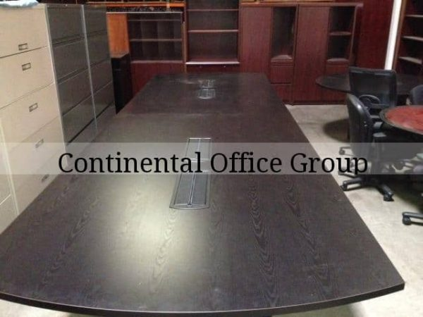 Used 16ft Conference Table w/ Power & Data Ebony