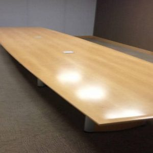 Used 20 Ft Wood Veneer Conference Table