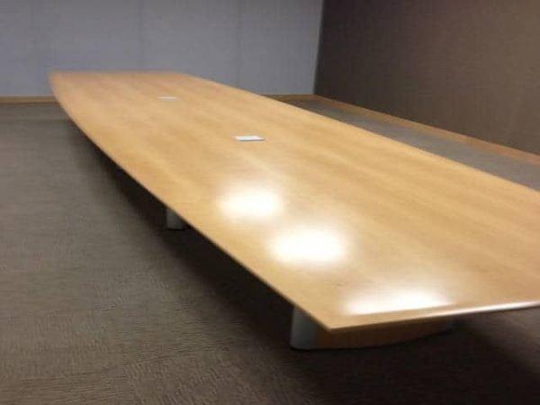 Used 20 Ft Wood Veneer Conference Table