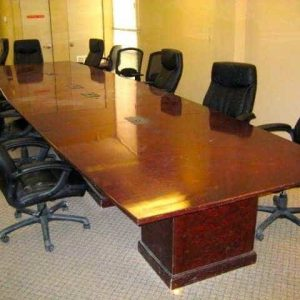 Used 20 ft Board Room Table with Built in Power