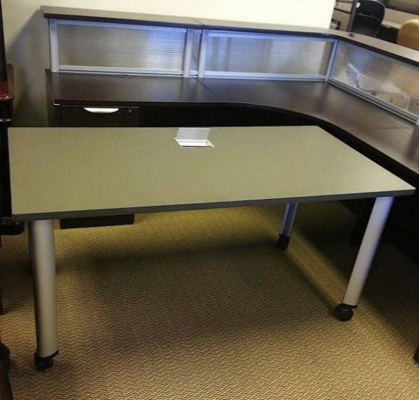 Used Herman Miller Mobile Training Tables With Built In Data Port