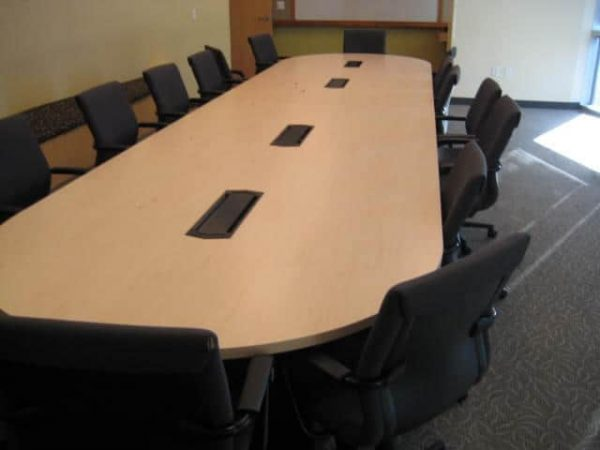Used 20ft Conference Tables Maple with Power