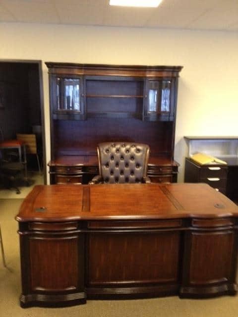 Used 3 piece executive desk set