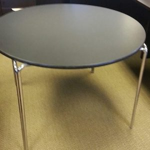 "Used 42"" Black Round Table"