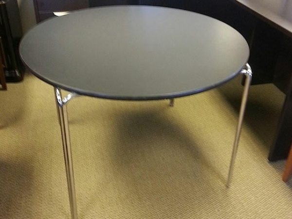 "Used 42"" Black Round Table"