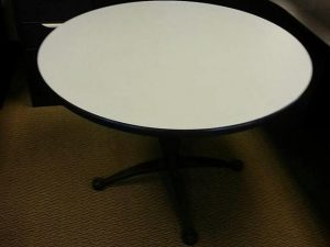 """Used 42"""" Gray Falcon Round Tables"""