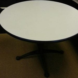 "Used 42"" Gray Falcon Round Tables"
