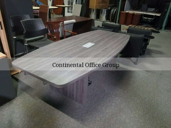 8ft Grey Conference Table Power