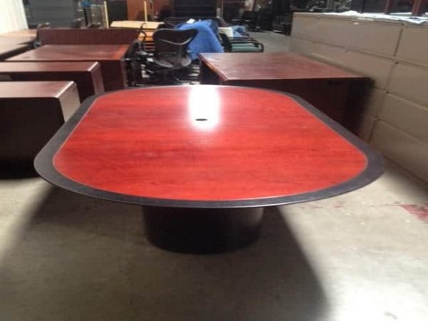 used 8 ft wood veneer conference table