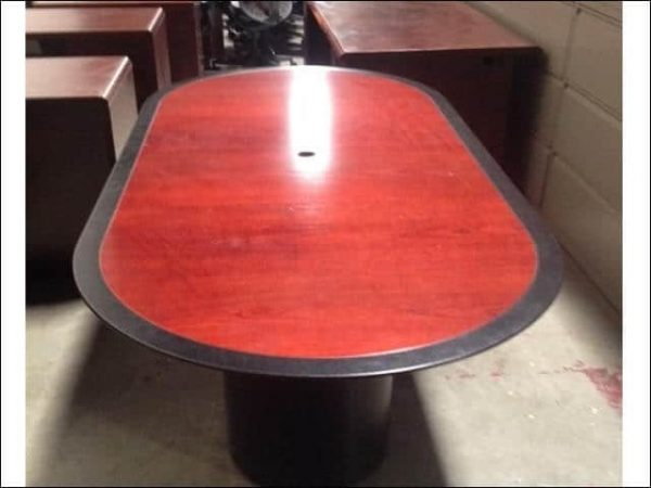 Used 8 ft wood veener conference table