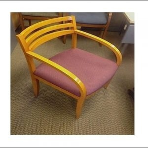 Used Bernhardt Wood Side Chair W/ Maple Frame