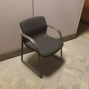 Used Knoll Black Guest Chairs