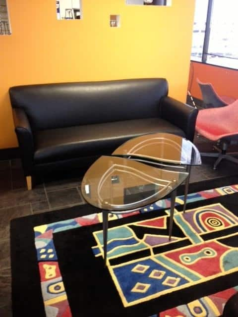 Used Black Leather Couch
