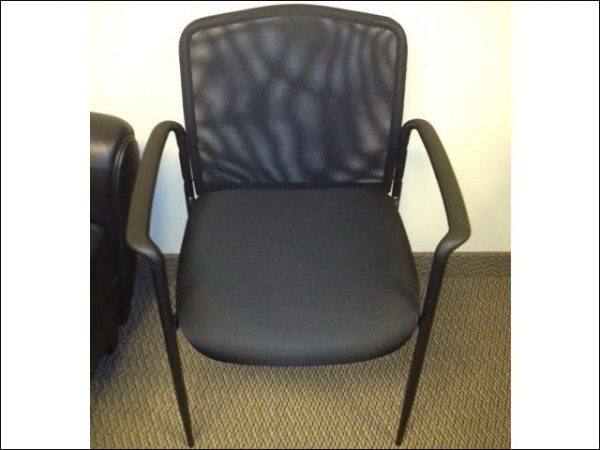 Used Black Mesh Side Chairs