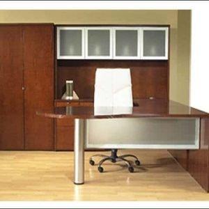 Used Bullet U Shape Desk W/Glass