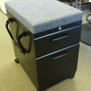 Used Black Box File Mobile Pedestals
