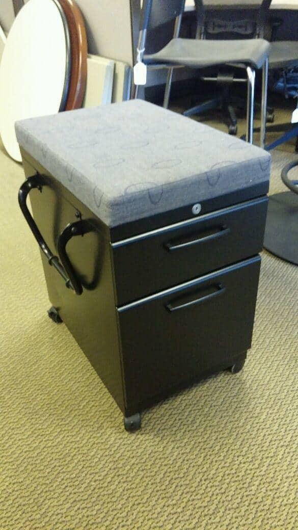 Used Black Box File Mobile Pedestals