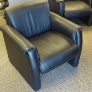 Buy Now Used Black Leather Lounge Chairs