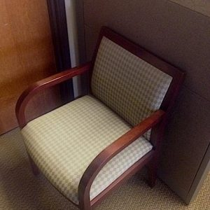 Used Dark Cherry Frame Wood Side Chairs