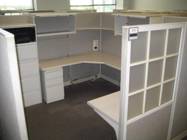 used Haworth Places Cubicles With Window Panels