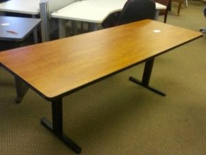 Used Cherry Training Tables with Folding Legs