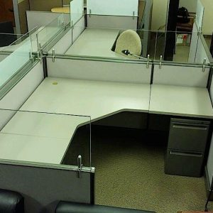 Used Herman Miller AO2 Cubicles with Clear Glass