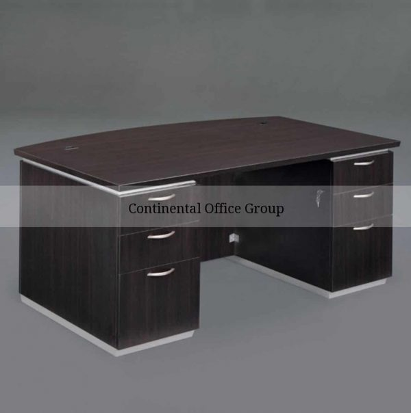 DMI Pimlico Executive Bow Front Desk with laminate modesty panel-7020-37L Picture1