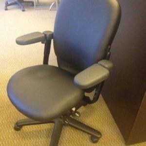 Used black vinyl Steelcase Drive chairs