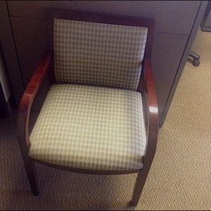 used dark cherry frame wood side chairs