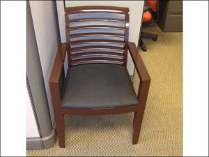 used Dark Mahogany Frame Wood Side Chairs