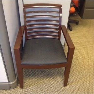 Used Dark Mahogany Frame Wood Side Chairs