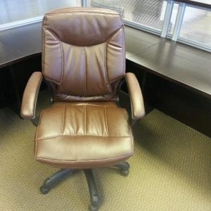 Used Executive Brown Leather Office Chairs