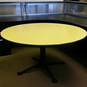 "used 42"" Yellow Falcon round tables"