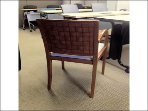 Used Cherry Frame Geiger Wood Side Chairs