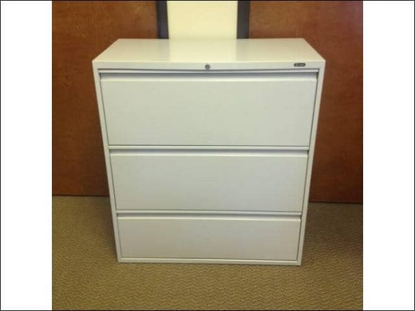 Used Global 3 Drawer Lateral File Cabinets 36 inch Wide