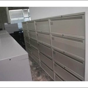 "Used Global 5 Drawer 36"" Lateral Filing Cabinets"