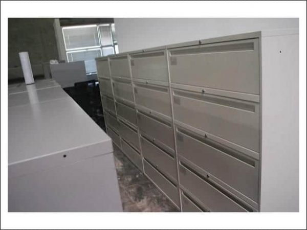 """Used Global 5 Drawer 36"""" Lateral Filing Cabinets"""
