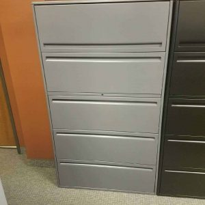 "Used Haworth 5 Drawer 36"" Wide File Cabinets"