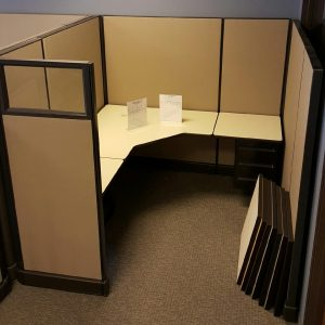 used Herman Miller AO2 Glass 6x6x67 cubicles