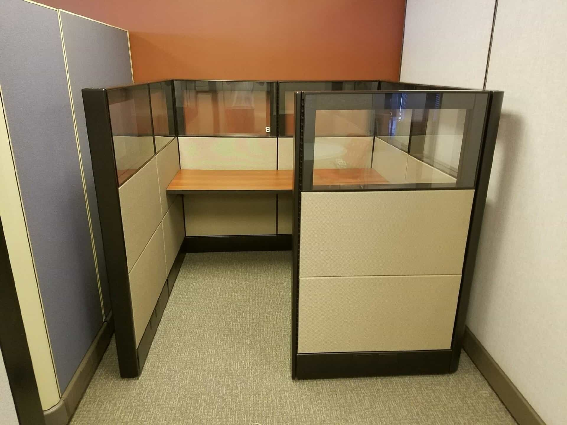 Herman Miller Ethospace Stations With Glass Used Office